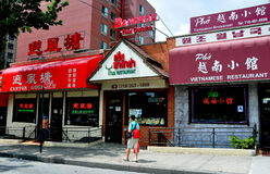 Flushing, NY: Asian Restaurants Stock Images