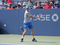 Grand Slam champion Andy Murray practices for US Open at at Billie Jean King National Tennis Center Stock Photo