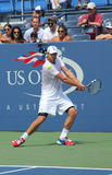 Grand Slam champion Andy Roddick practices for US Open  at Billie Jean King National Tennis Center. FLUSHING, NY - AUGUST 25: Grand Slam champion Andy Roddick Stock Photo