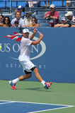 Grand Slam champion Andy Roddick practices for US Open  at Billie Jean King National Tennis Center Royalty Free Stock Photos