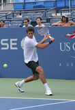 Grand Slam champion Juan Martin Del Porto practices for US Open Royalty Free Stock Images