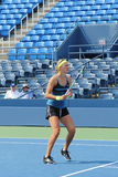 Grand Slam champion Victoria Azarenka practices for US Open at Billie Jean King National Tennis Cente Stock Images