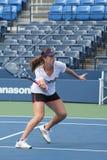 Professional tennis player Anastasia Pavlyuchenkova practices for US Open at Billie Jean King National Tennis Center Stock Image
