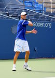 Professional tennis player Andreas Seppi practices for US Open Royalty Free Stock Photography