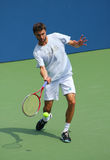Professional tennis player Gilles Simon practices for US Open Stock Photos