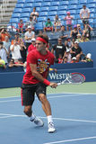 Seventeen times  Grand Slam champion Roger Federer practices for US Open  at Billie Jean King National Tennis Cente Royalty Free Stock Photography