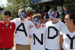 Andy Murray's fans ready for final match at US OPEN 2012 at Billie Jean King National Tennis Center Royalty Free Stock Photography