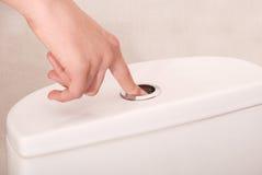 Flushing toilet Royalty Free Stock Photos