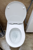 Flushing toilet Stock Photography