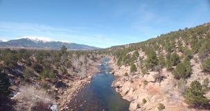 Flussüberführung stock footage