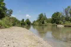 Fluss in Österreich Lizenzfreie Stockfotos