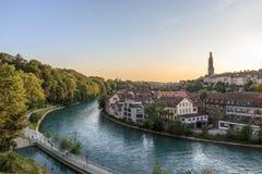 Fluss Aare Bern Stockbild