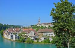 Fluss Aare, Bern, die Schweiz Lizenzfreies Stockbild