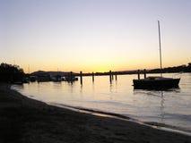 Fluss am Abend Lizenzfreie Stockfotografie