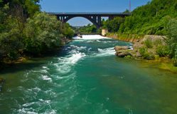 Fluss Adda Stockbild