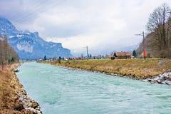 Fluss Aera am Eingang zu Aare-Schlucht - Aareschlucht Lizenzfreie Stockfotografie