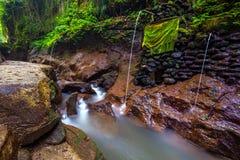 Fluss am Affe-Wald, Ubud, Bali, Indonesien Lizenzfreies Stockbild