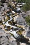 Fluss alcantara Wasserfall Stockbild