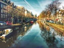 Fluss in Amsterdam Lizenzfreies Stockbild