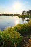 Fluss Aramilka in Aramil Stockfoto