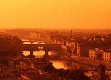 Fluss Arno, Florenz, Toskana, Italien. Lizenzfreie Stockbilder