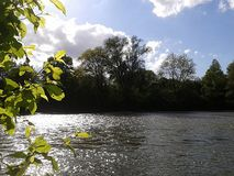 Fluss auf Sommer stockfotos