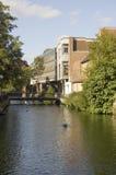 Fluss Avon, Salisbury Stadtzentrum Stockfoto