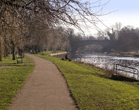 Fluss Avon warwick Stockbild