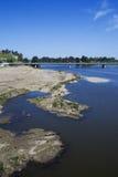 Fluss in Badajoz Lizenzfreie Stockbilder