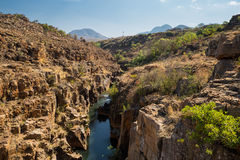 Fluss bei Bourke Luck Potholes, Blyde-Fluss-Schlucht, Südafrika stockfoto