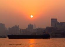 Fluss bei Sonnenuntergang Lizenzfreie Stockfotografie