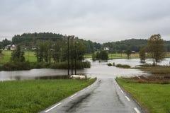 Fluss-Überschwemmung Stockfotos