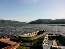 Fluss-Boote lizenzfreie stockfotografie