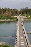 Fluss-Brücke Stockfoto