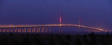 Fluss-Brücke Shanghai-Yangtze stockfotografie