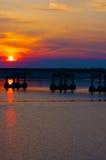 Fluss-Brücken-Sonnenaufgang Lizenzfreie Stockbilder
