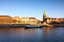 Fluss in Bremen Stockfoto