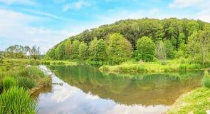 Fluss Brenz - Tal Eselsburger Tal stockbild
