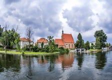 Fluss Bydgoszcz - Brda Lizenzfreie Stockfotos