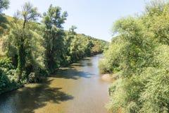 Fluss Cherni Osam in den offenen Räumen von Bulgarien Stockfoto