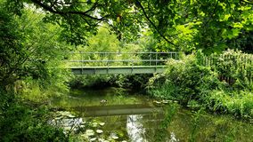 Fluss colne, Staines auf Themse Lizenzfreies Stockbild