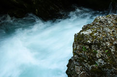 Fluss-Dampf Stockfoto