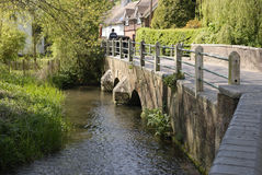 Fluss Darent bei Shoreham. Kent. Großbritannien Lizenzfreie Stockfotografie