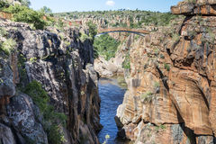 Fluss an den bourkes Schlaglöchern in Südafrika Lizenzfreies Stockfoto