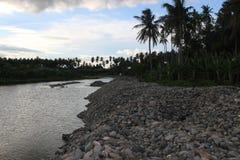 Fluss, der für Sand und Kiesgewinnung am besten ist Lizenzfreie Stockfotografie