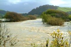 Fluss in der Flut Lizenzfreie Stockbilder