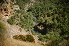 Fluss in der Landschaft Lizenzfreies Stockbild