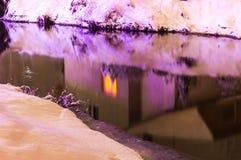 Fluss in der Nacht Stockbild