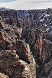 Fluss in der schwarzen Schlucht des Gunnison Parks, Co stockbild