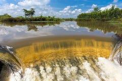 Fluss, der in tropische Regenzeit fließt Stockbild